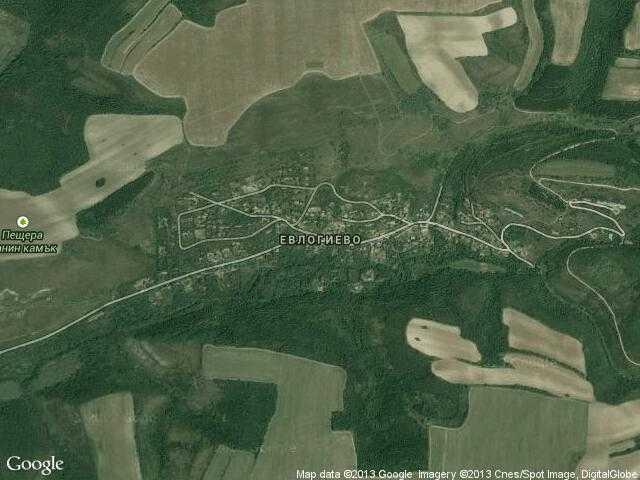 Сателитна карта на Евлогиево