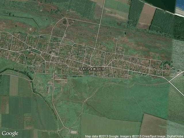 Сателитна карта на Загражден