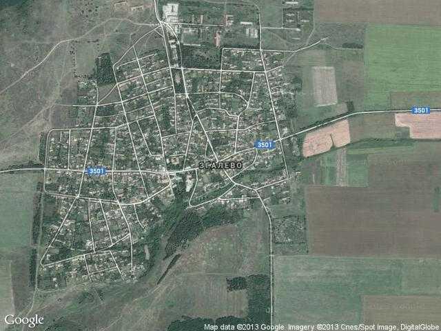 Сателитна карта на Згалево
