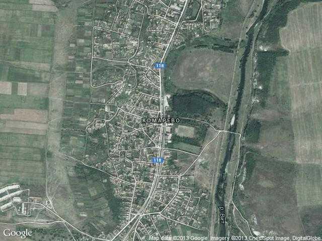 Сателитна карта на Комарево