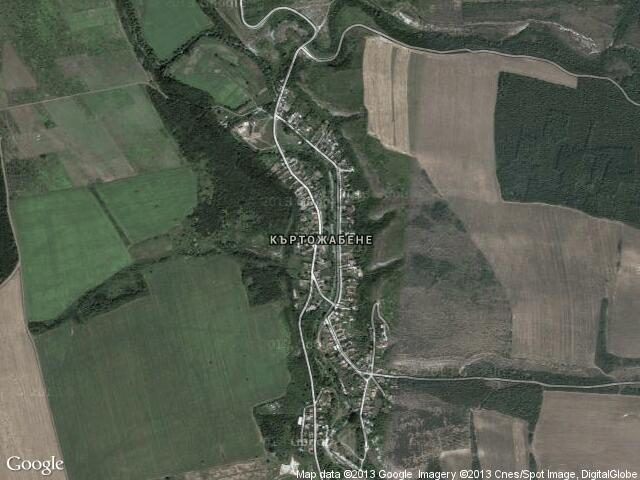 Сателитна карта на Къртожабене