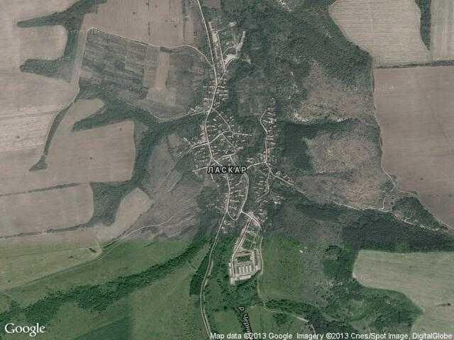 Сателитна карта на Ласкар