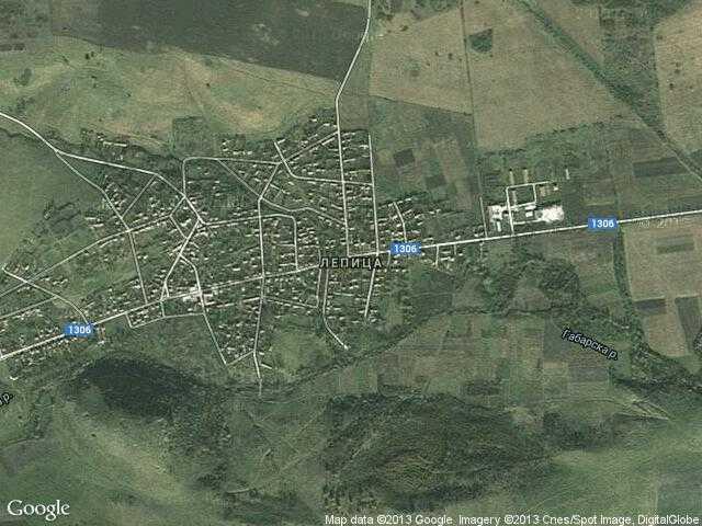 Сателитна карта на Лепица