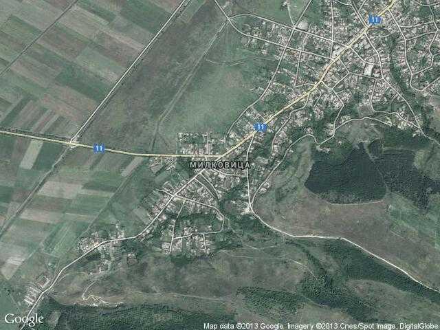 Сателитна карта на Милковица