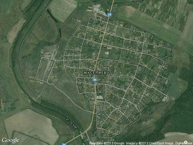 Сателитна карта на Муселиево