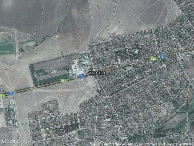Сателитна карта на Обнова