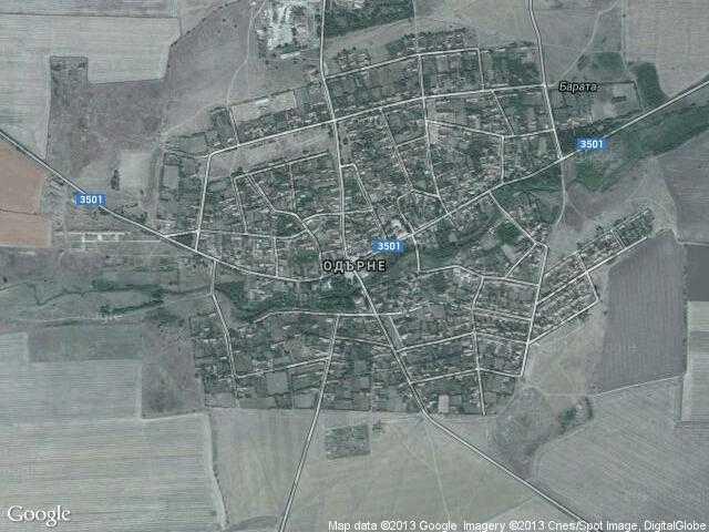 Сателитна карта на Одърне