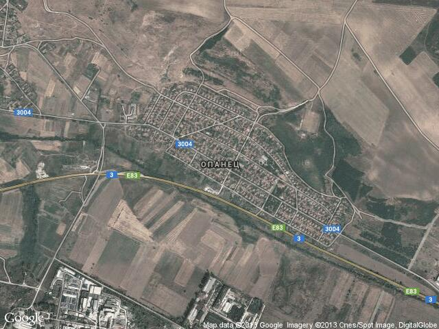 Сателитна карта на Опанец