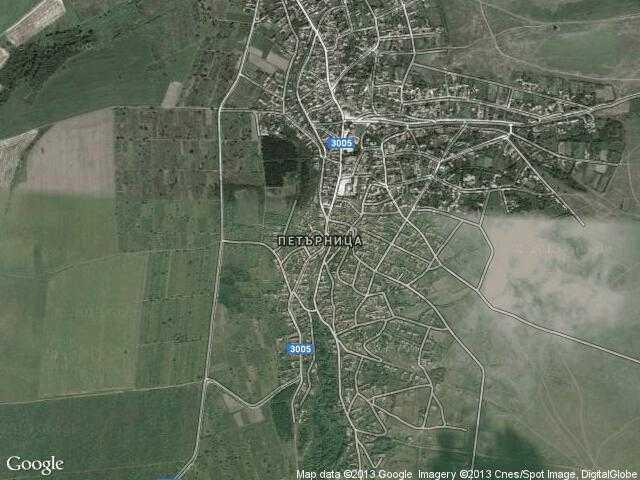 Сателитна карта на Петърница