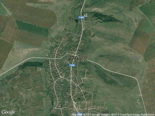 Сателитна карта на Писарово