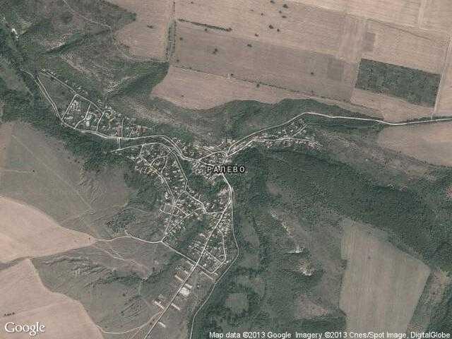 Сателитна карта на Ралево
