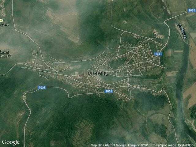 Сателитна карта на Реселец