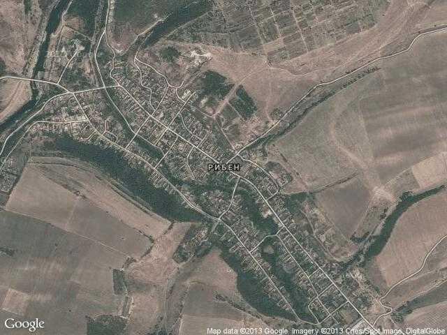 Сателитна карта на Рибен