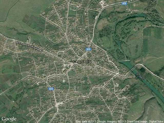 Сателитна карта на Садовец