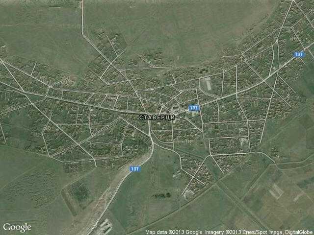 Сателитна карта на Ставерци
