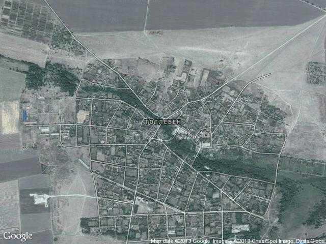Сателитна карта на Тотлебен