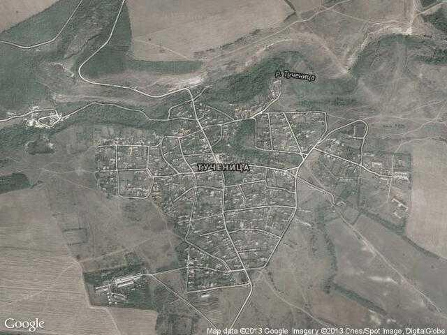 Сателитна карта на Тученица