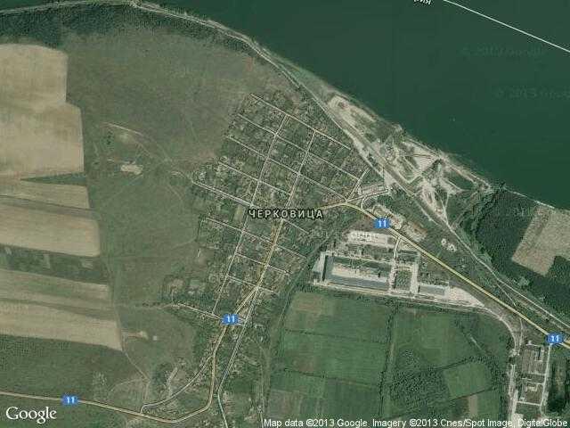 Сателитна карта на Черковица