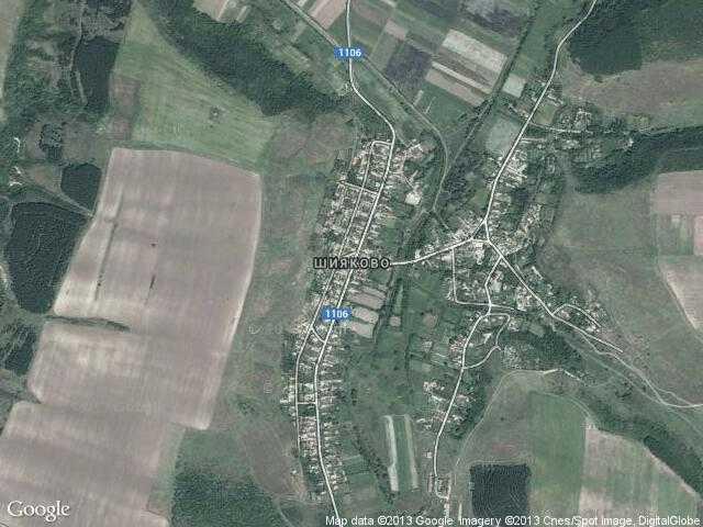 Сателитна карта на Шияково