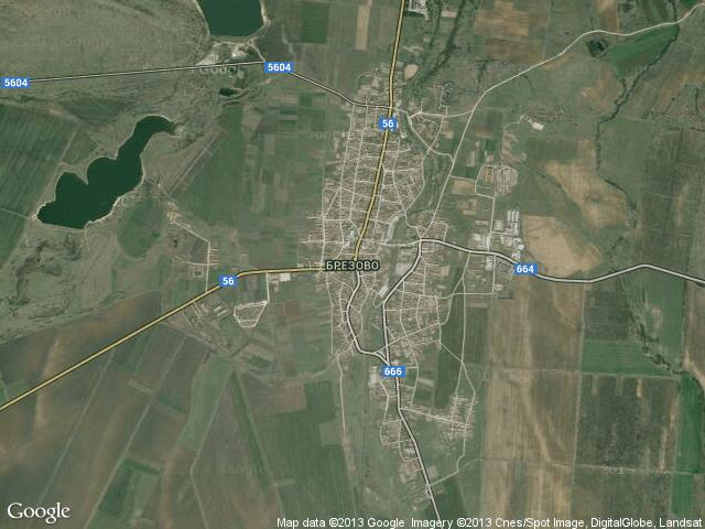 Сателитна карта на Брезово