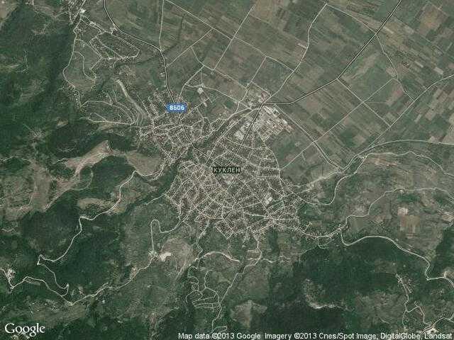 Сателитна карта на Куклен