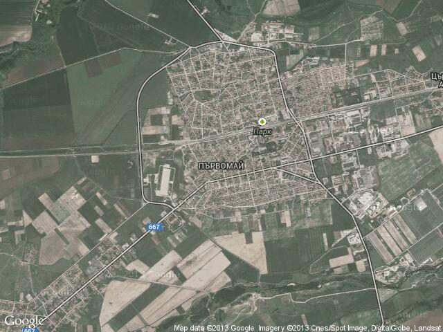 Сателитна карта на Първомай