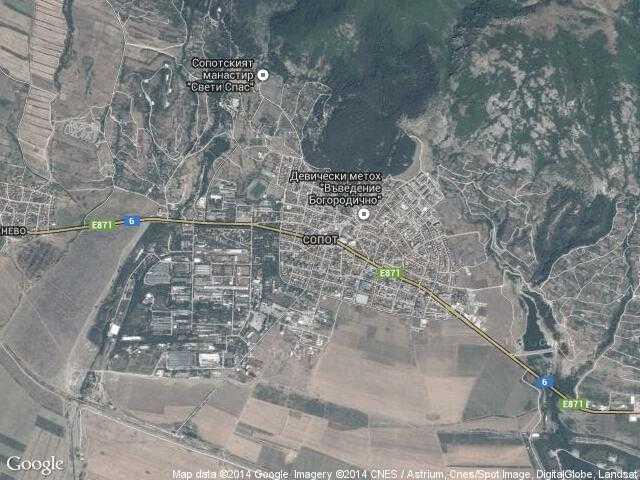 Сателитна карта на Сопот