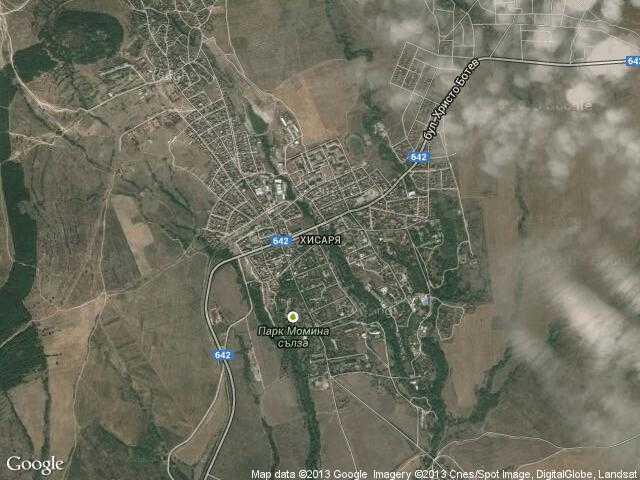 Сателитна карта на Хисаря