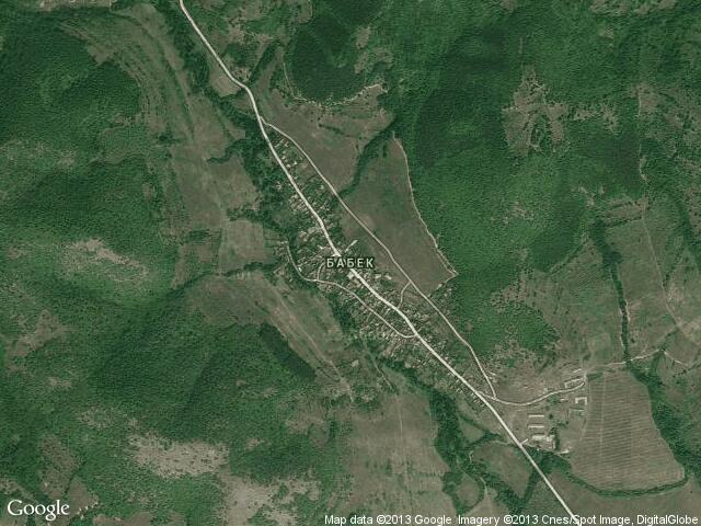 Сателитна карта на Бабек