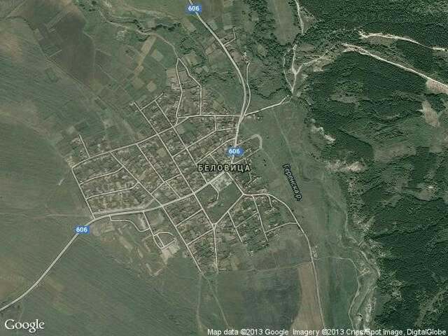 Сателитна карта на Беловица