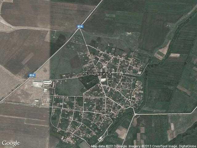 Сателитна карта на Богданица