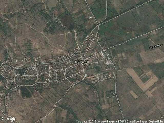 Сателитна карта на Богдан