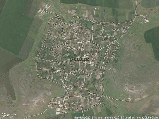Сателитна карта на Болярино