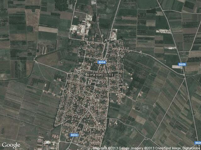 Сателитна карта на Браниполе