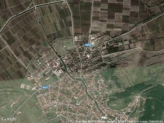 Сателитна карта на Брестовица