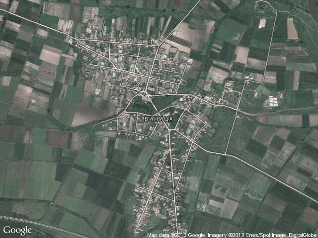 Сателитна карта на Виница