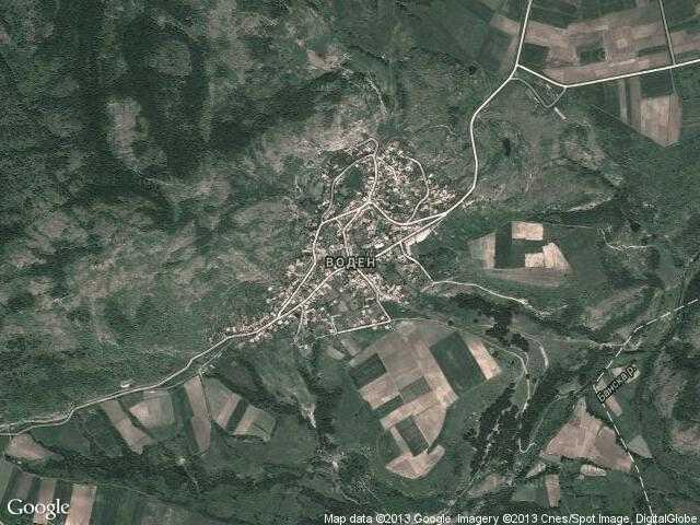 Сателитна карта на Воден