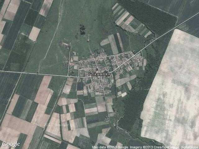 Сателитна карта на Главатар