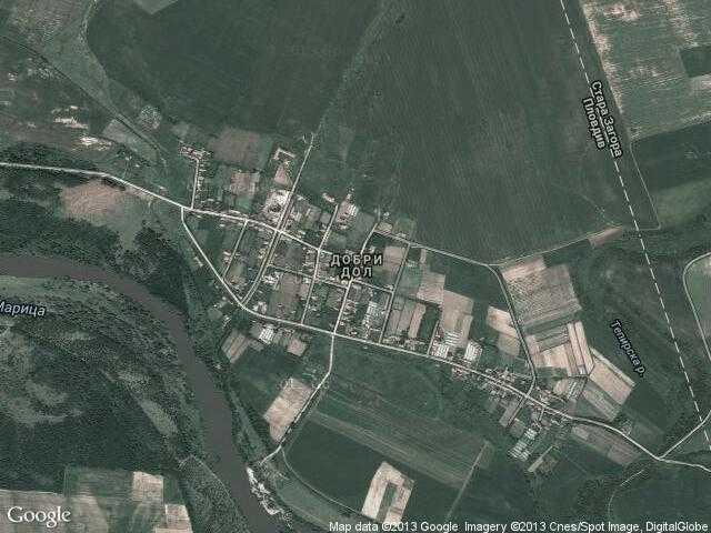 Сателитна карта на Добри дол