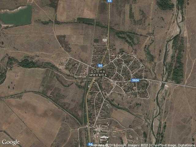 Сателитна карта на Долна махала