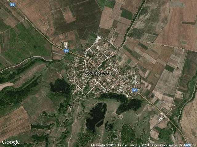 Сателитна карта на Долнослав