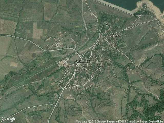 Сателитна карта на Домлян