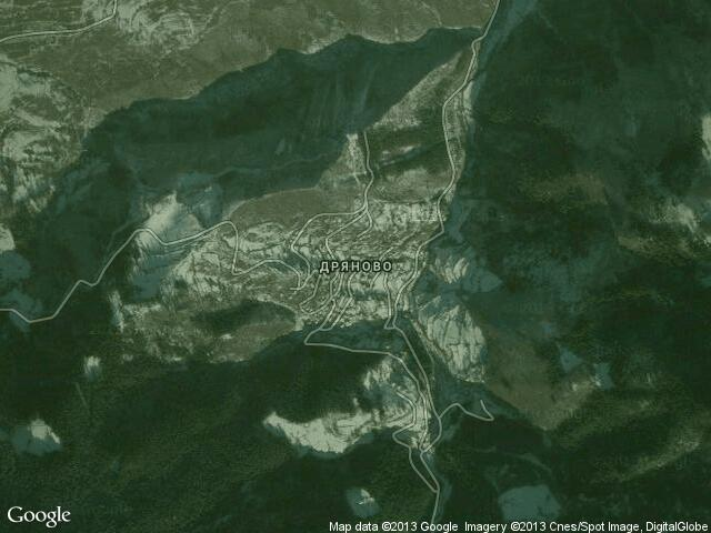 Сателитна карта на Дряново