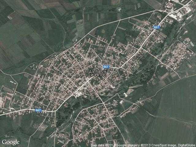 Karta 2019 Selo Izvor Karta