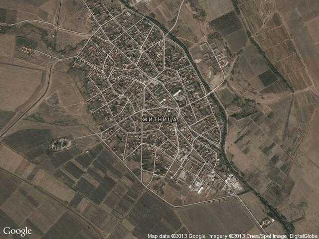 Сателитна карта на Житница