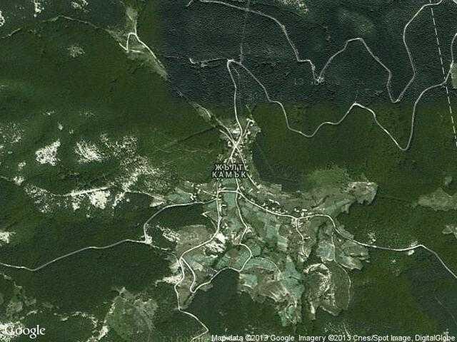 Сателитна карта на Жълт камък