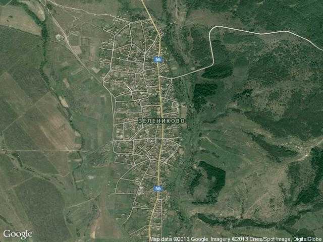 Сателитна карта на Зелениково