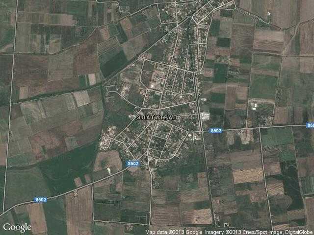 Сателитна карта на Златитрап