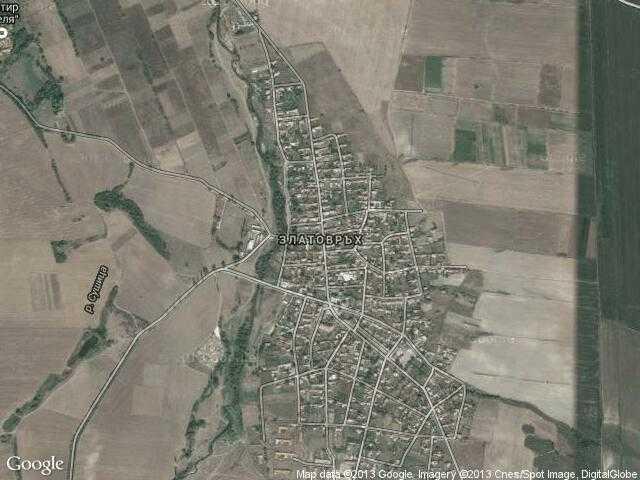 Сателитна карта на Златовръх