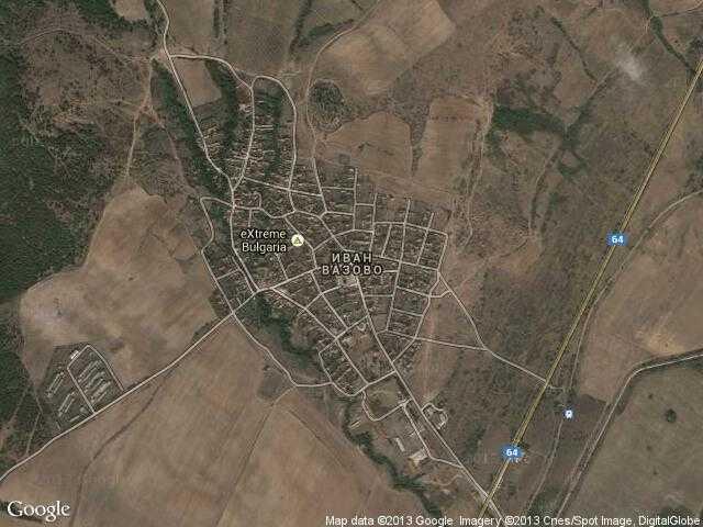 Сателитна карта на Иван Вазово